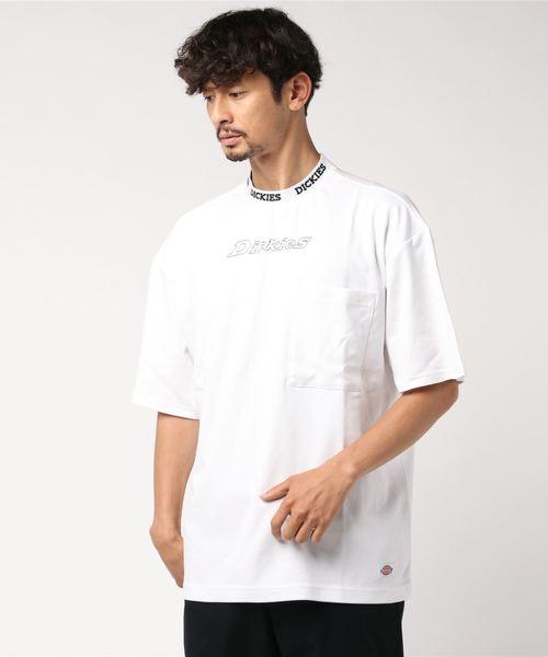 Dickies(ディッキーズ)の「【メンズ】ジャカードカラーオーバーサイズ半袖Tシャツ(Tシャツ/カットソー)」 ホワイト