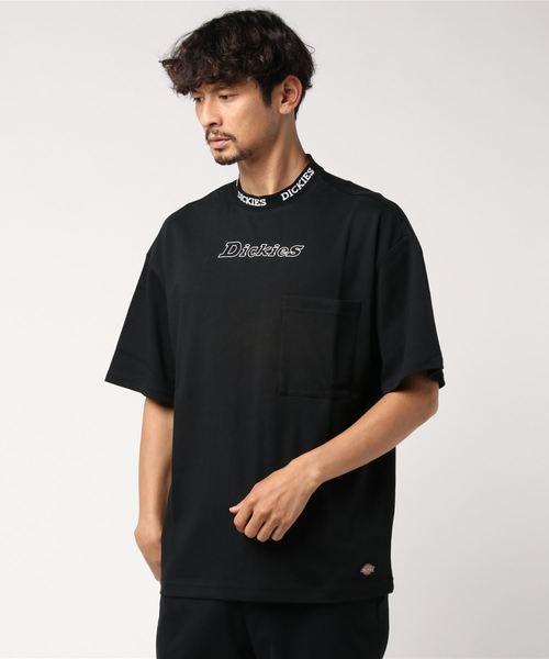 Dickies(ディッキーズ)の「【メンズ】ジャカードカラーオーバーサイズ半袖Tシャツ(Tシャツ/カットソー)」|ブラック