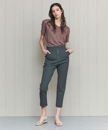 <H>ZIP SLIM PANTS/パンツ