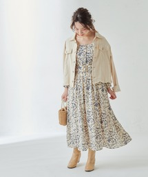 natural couture(ナチュラルクチュール)のピンタック使いレディワンピース(ワンピース)