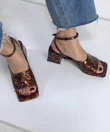 【chuclla】Open-square ankle sandal sb-6 chs13ブラウン