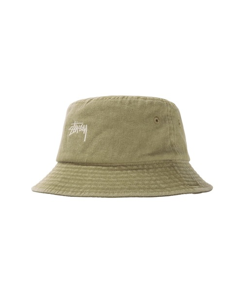 STUSSY(ステューシー)の「Stock Washed Bucket Hat(ハット)」|カーキ