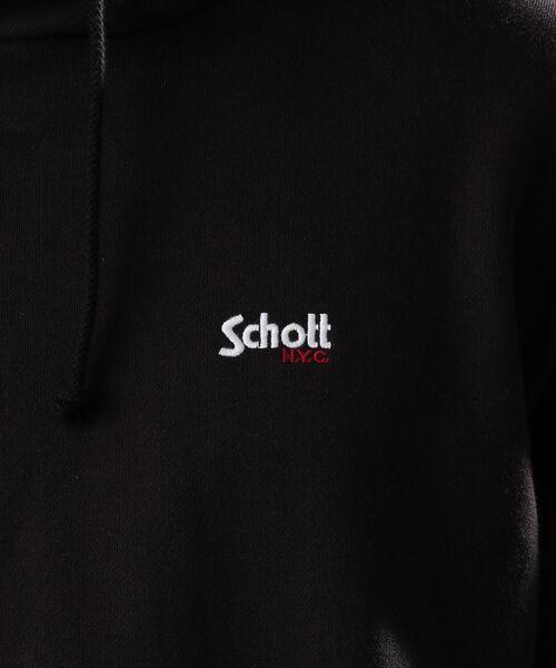 schott(ショット)の「Schott/ショット/HOODED SWEAT LOGO/フーデッド パーカーロゴ(パーカー)」 詳細画像
