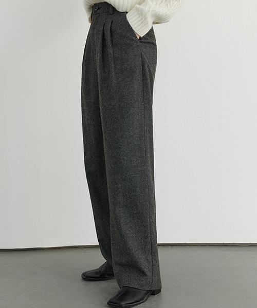 【Fano Studios】2 tac semi wide wool slacks FD20K026
