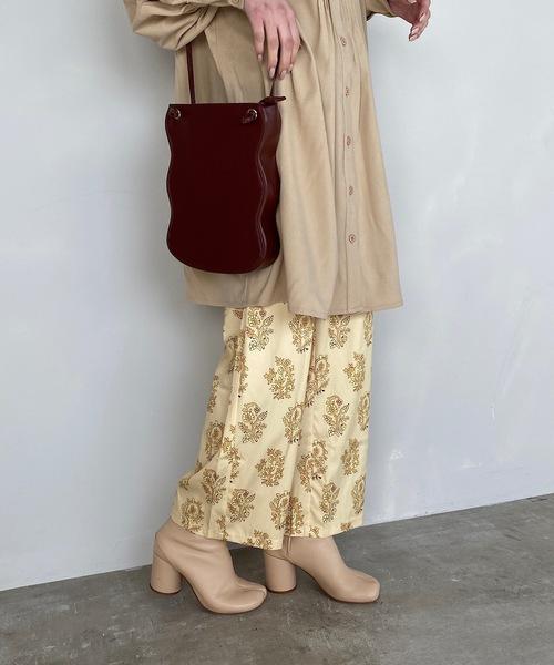【SANSeLF】vintage pattern relax pants sanw25