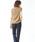 Pierrot(ピエロ)の「フレンチスリーブ リブニットトップス サマーニット フレンチ袖 薄手ニット(ニット/セーター)」|詳細画像