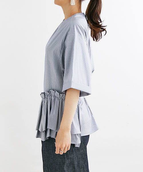 JEAN_NERET/GATHER FRILL PULLOVER