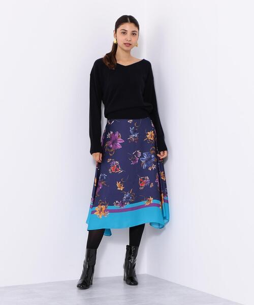 SMF PEスカーフプリント イレヘムスカート