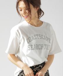 BAYFLOW(ベイフロー)のプリント5分袖Tシャツ(Tシャツ/カットソー)