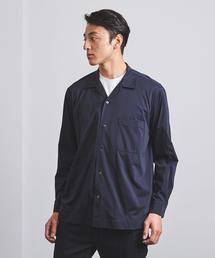 < UNITED ARROWS > スムース オープンカラーシャツ ◆