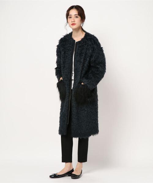 (訳ありセール 格安) ミックスシャギーコート(その他アウター) en Bleu|LANVIN WOMEN,ランバン en Bleu(ランバンオンブルー)のファッション通販, 北欧インテリア雑貨 krone:e18532f5 --- svarogday.com