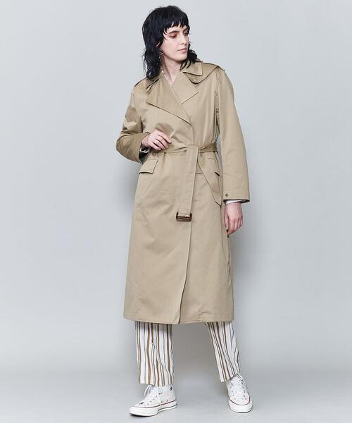 <6(ROKU)>COTTON SILK TRENCH COAT/コート ◆