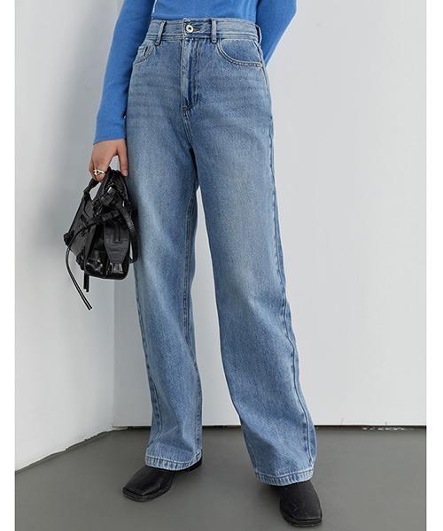 【Fano Studios】Vintage wash straight denim pants FD20K028