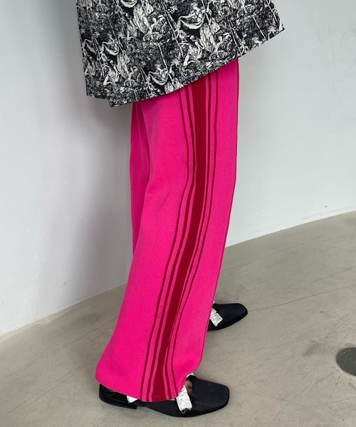 【SANSeLF】line color jersey pants sanw26