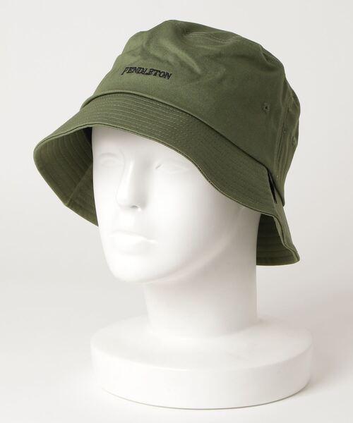 【 PENDLETON / ペンドルトン 】EMB BUCKET HAT / ロゴ刺繍バケットハット  サファリハット