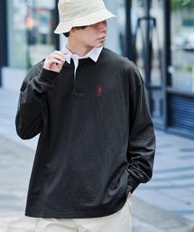 U.S. POLO ASSN. /ユーエスポロアッスン 別注 ワンポイント刺繍 オーバーサイズ ラガーシャツブラック