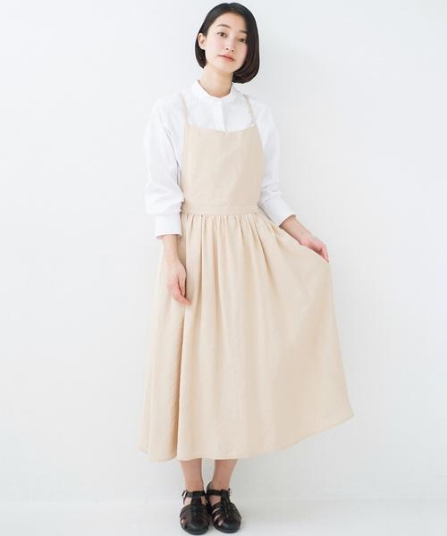 Haco ハコ の シンプルな服に合わせるだけでかわいいエプロンワンピース ワンピース Wear