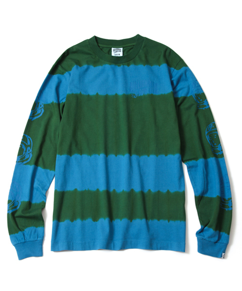 BILLIONAIRE BOYS CLUB BLEACH STRIPED L/S T-SHIRT 18SUMMER