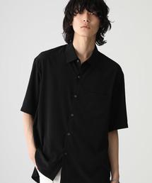 STUDIOUS(ステュディオス)の【STUDIOUS】クレープデシンドロップネックレギュラーシャツ(シャツ/ブラウス)