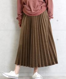 CHARM BERRY TIC(チャームベリーチック)のスエードタッチ素材のアコーディオンプリーツスカート(スカート)