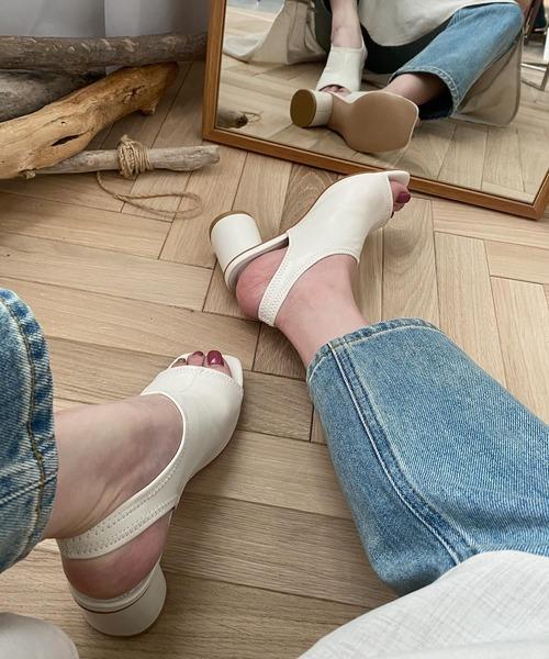 【chuclla】Cylindrical-heel sandal sb-6 chs15
