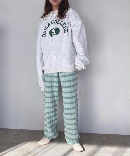 【SANSeLF】 relax check pants sanw27