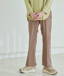 Wrangler/ラングラー WRANCHER DRESS スタプレ ランチャーストレッチツイル センタープレスセミフレアパンツベージュ