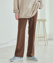 Wrangler/ラングラー WRANCHER DRESS スタプレ ランチャーストレッチツイル センタープレスセミフレアパンツブラウン
