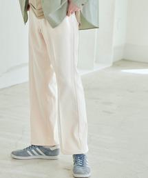 Wrangler/ラングラー WRANCHER DRESS スタプレ ランチャーストレッチツイル センタープレスセミフレアパンツオフホワイト