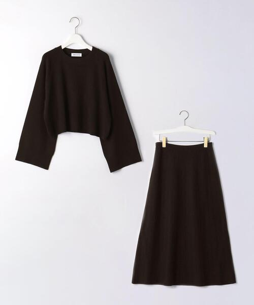 <EMMEL REFINES(エメル リファインズ)>EM HW ピンタック スカート ニットアップ −ウォッシャブル−