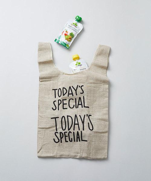 TODAY'S SPECIAL(トゥデイズスペシャル)の「JUTE MINI MARCHE BAG/ジュート ミニ マルシェバッグ(エコバッグ/サブバッグ)」|ブラウン