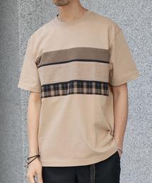 チェストパッチワークTシャツ