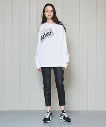 <ARIES>SHOULDER HOLE SUPER LONG SLEEVE T-SHIRT/Tシャツ.