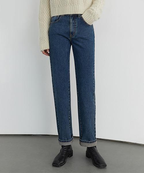 【Fano Studios】Vintage wash dapered denim pants FD20K040