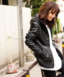 DETAILS(ディテールズ)のL.H.P women/DETAILS women/NEW Leather Hood Riders(DT-173-15-061)(ライダースジャケット)