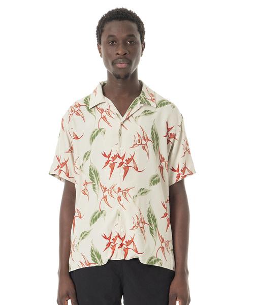 Sandinista(サンディニスタ)の「Rayon Open Collar Aloha S/S Shirt / アロハレーヨンシャツ(シャツ/ブラウス)」|オフホワイト