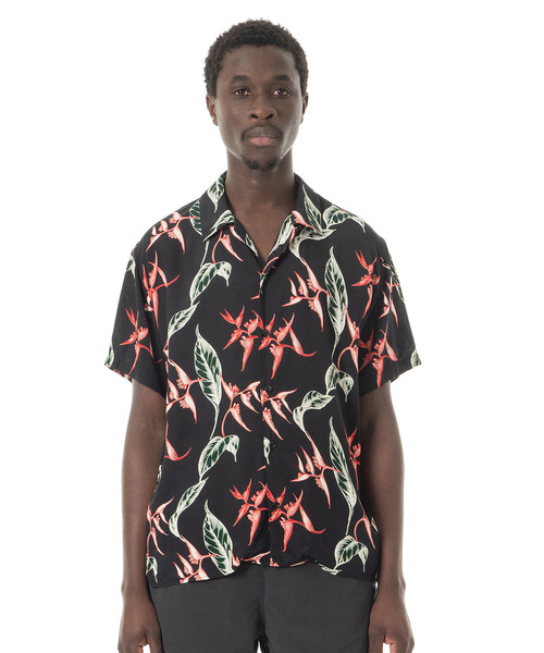 Sandinista(サンディニスタ)の「Rayon Open Collar Aloha S/S Shirt / アロハレーヨンシャツ(シャツ/ブラウス)」|ブラック