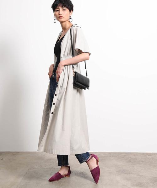 2019人気No.1の 【セール】【2WAY】Vネックシャツドレス(ワンピース) ROPE