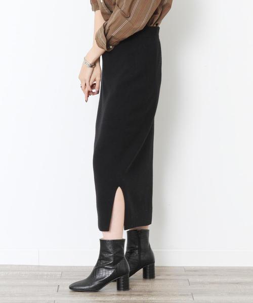 【セットアップ対応・WEB限定カラー: モカ ・ベージュが登場】スムースタイトニットスカート