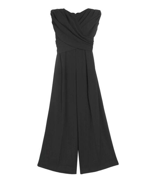 LAGUNAMOON(ラグナムーン)の「LADYクロスベアパンツドレス(パンツドレス)」 ブラック
