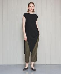 <FEMMENT>ASYMMETRY NO SLEEVE PULLOVER/カットソー
