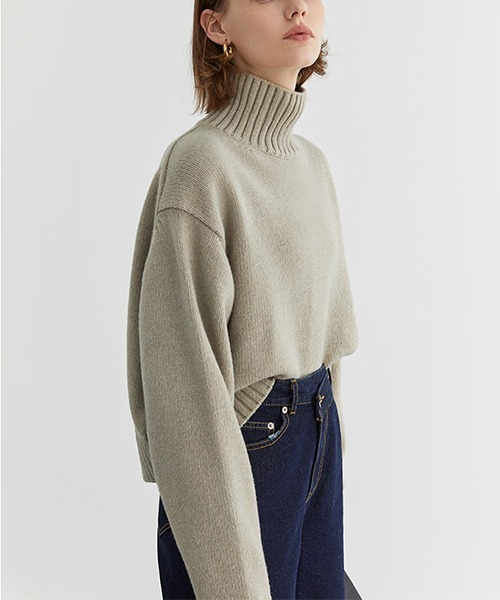【Fano Studios】Wide silhouette Turtle knit FD20S066
