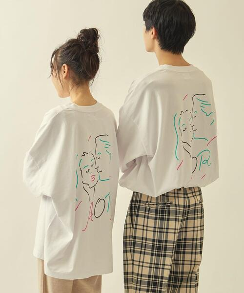 【WEB限定】 <AOR/Adult Oriented Records>×<info. BEAUTY&YOUTH> スーパービッグ ロンTEE FACE