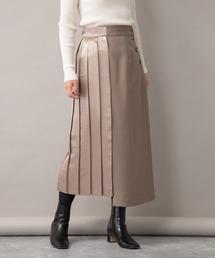 Audrey and John Wad(オードリーアンドジョンワッド)のアシンメトリーデザイン 360°マルチポジションプリーツスカート(スカート)