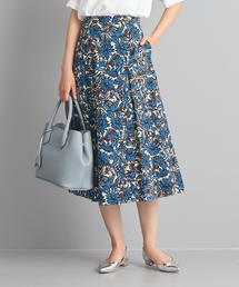 【WORK TRIP OUTFITS】★WTO BC CO アフリカンプリント フレアスカート