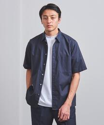 <UNITED ARROWS> ダブルポケット レギュラーカラー ショートスリーブシャツ†