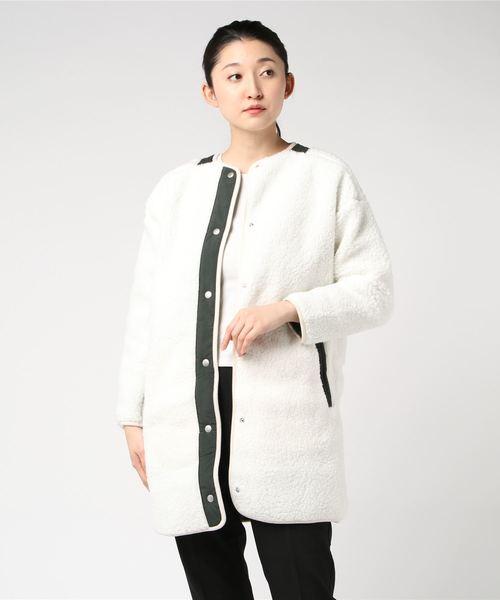 adidas(アディダス)の「adidas/アディダス ウィメンズ S2S ボア ロングジャケット(ブルゾン)」|ホワイト