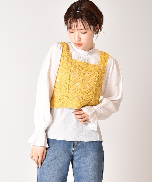 かぎ編みビスチェセット