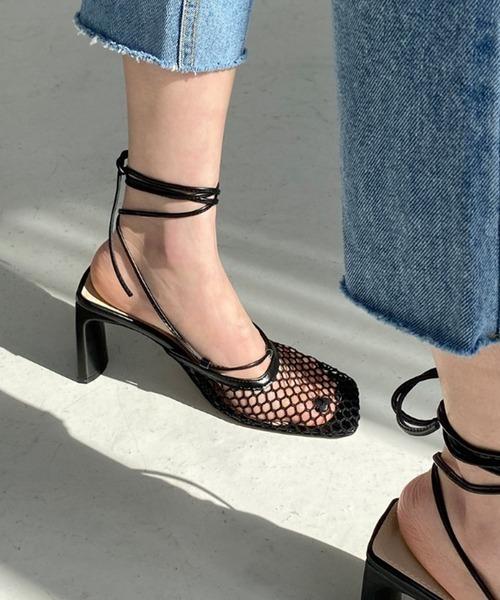 【chuclla】Square-toe lace up pumps sb-6 chs19