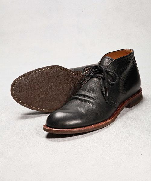 MR.OLIVE(ミスターオリーブ)の「【撥水レザー】WATER PROOF SHIRINK LEATHER / CHUKKA BOOTS(ブーツ)」|ブラック